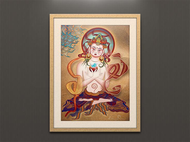 Poster Budha. Enrique Parra