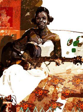 Saatchi Online Artist Limbolo -; Painting, Mrs. Douglas had 3 husbands.