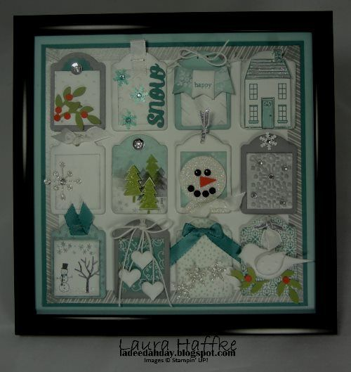 Winter Tag Collage 8x8 Stampin Up