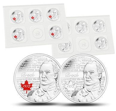 Major-General Sir Isaac Brock - 25-cent Circulation 10-pack (2012)