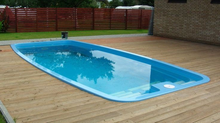 Small above ground pools swimming pool fiberglass for Inexpensive in ground pool ideas