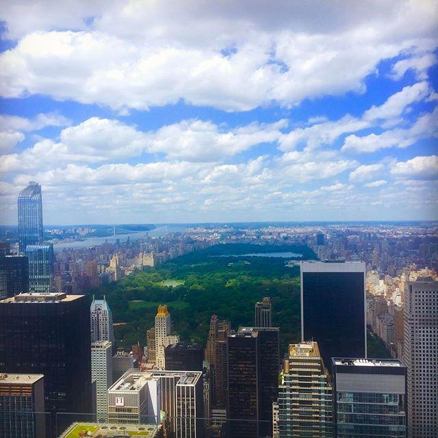 📸: Views of Central Park 🐿🌲 from top of the Rock www.thegirlswhowander.com #thegirlswhowander #centralpark #manhattan #rockefeller #newyork #newyorkcity #usa