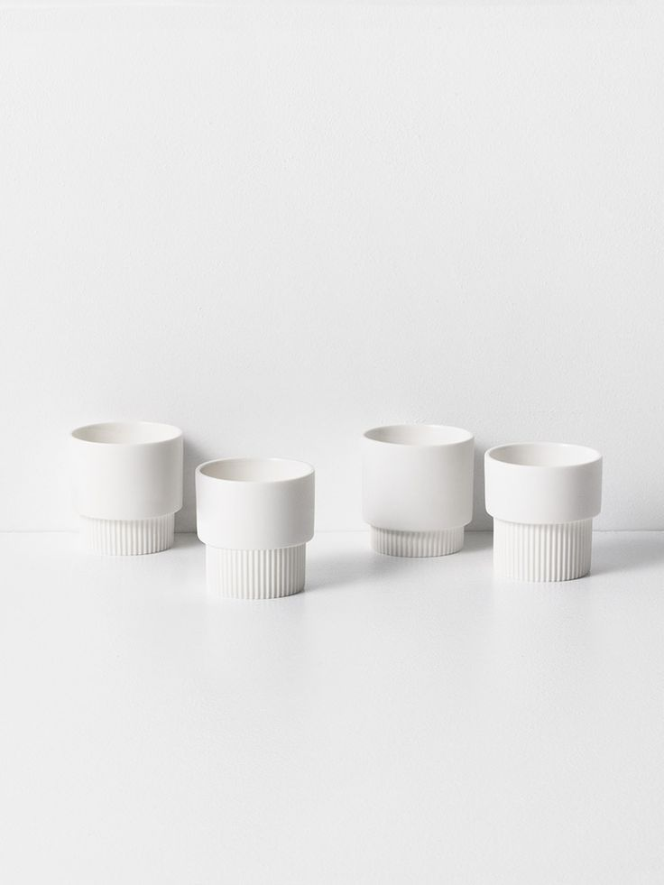 ferm LIVING's espresso cup is perfect for your coffee boost. Crafted from lightweight matte porcelain with decorative grooves - danish design online