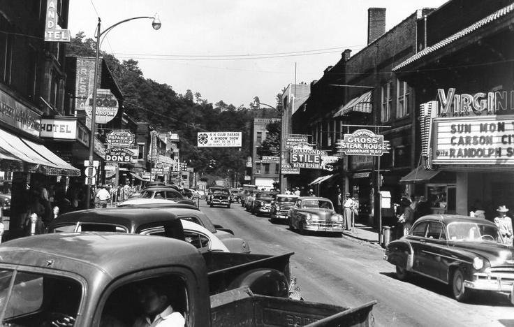 Main Street Hazard Kentucky 1950s Classic Shot Of