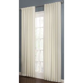 allen roth beeston 95in l solid snow thermal back tab window curtain panel