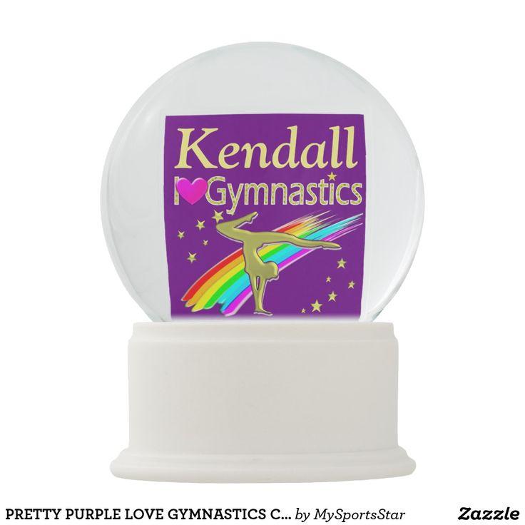 PRETTY PURPLE LOVE GYMNASTICS CUSTOM SNOW GLOBE Your Gymnast will love our awesome personalized Gymnastics Snow globes. https://www.zazzle.com/collections/gymnastics_snowglobes-119558136460549633?rf=238246180177746410&CMPN=share_dclit&lang=en&social=true #Gymnastics #Gymnast #WomensGymnastics #Lovegymnastics #PersonalizedGymnast #Gymnastsnowglobe