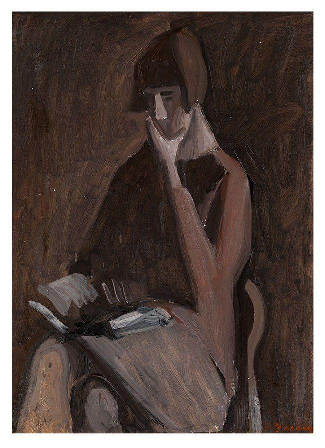 Andrei Vasnetsov (1924-2009), Portrait of Irina Vasnetsov, 1976