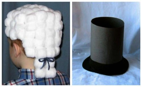 Presidential Powdered Wig and Lincoln Paper Plate Hat - - Re-pinned by @PediaStaff – Please Visit ht.ly/63sNt for all our pediatric therapy pins