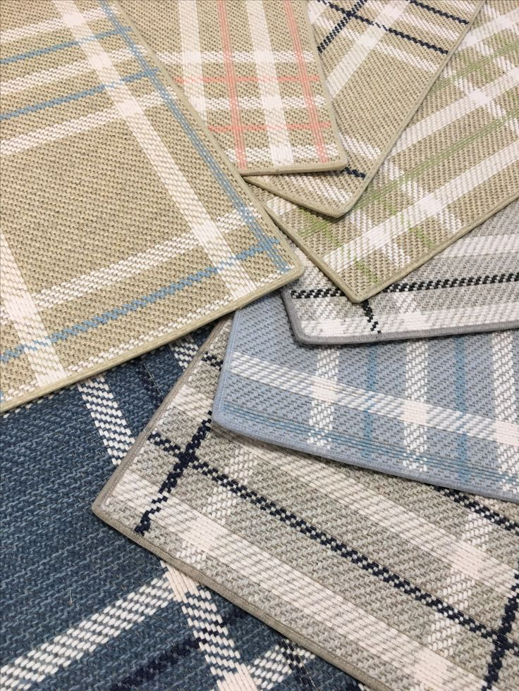 Our Large Scale Wool Plaid Carpet Can Be Fabricated Into Made To Order Rugs
