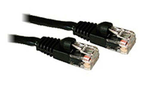 C2G / Cables to Go 15202 Cat5E 350 MHz Snagless Patch Cable, Black (10 Feet/3.04 Meters) by Cables To Go. $5.41. For voice/data/video distribution, this cable will handle bandwidth-intensive applications up to 350 MHz. Meets all Cat5E TIA/EIA standards, and drastically reduces both impedance and structural return loss (SRL) when compared to standard 100 MHz wire. Each of the individual pairs is bonded together to help maintain the twist-spacing throughout the line ri...