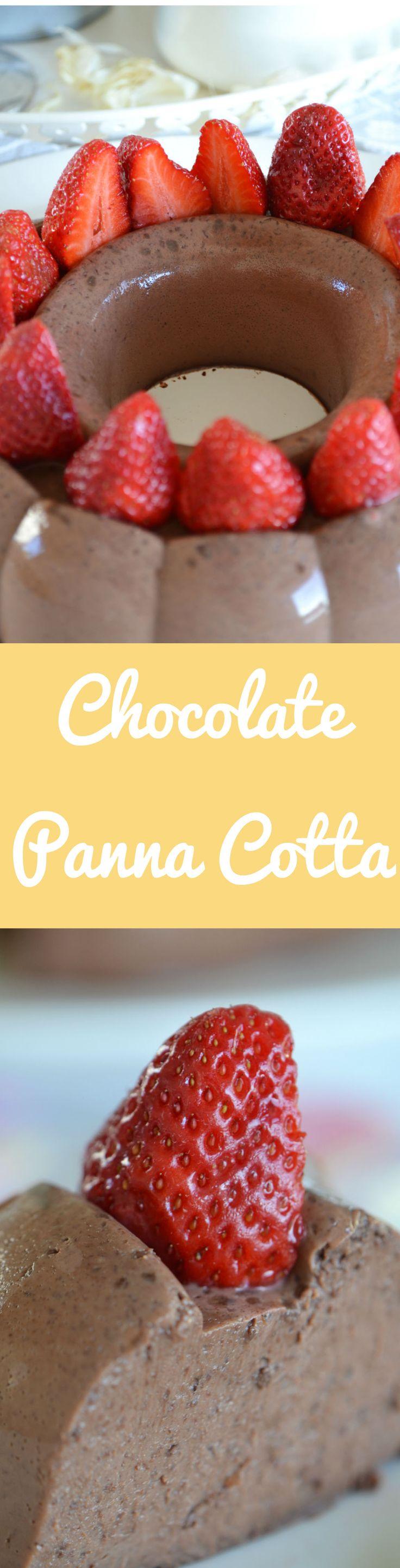 Rich Flavored Chocolate Panna Cotta