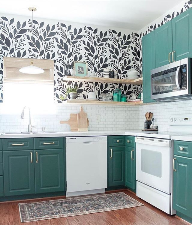 Diy Painted And Stenciled Kitchen Wall Makeover Ideas On A Budget
