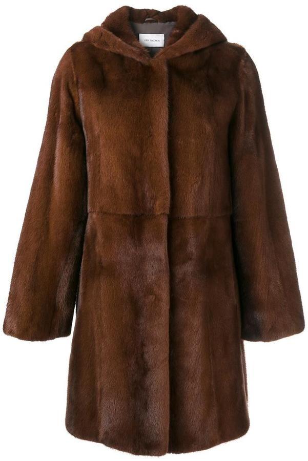 Yves Salomon fur hooded coat
