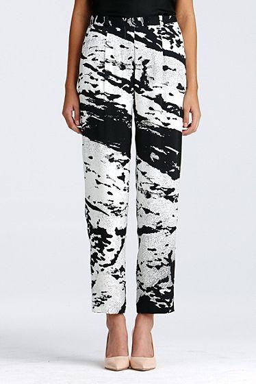 DVF| Naples Printed pant in water fields, Resort 2012/13: Zoom