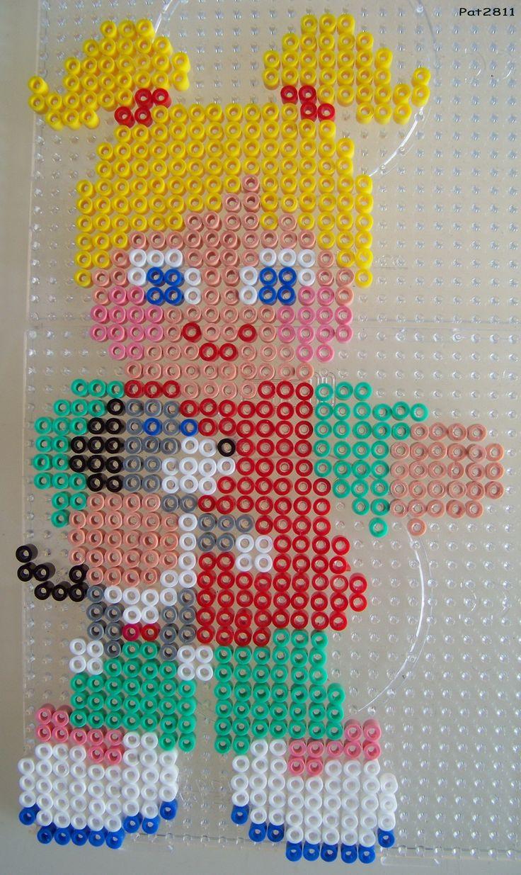sandylandya@outlook.es  Mädchen Bügelperlen / Baby girl perler hama beads