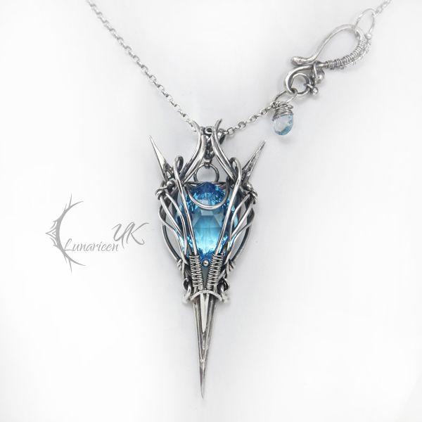 LINFILRNILH - silver and topaz by LUNARIEEN.deviantart.com on @deviantART