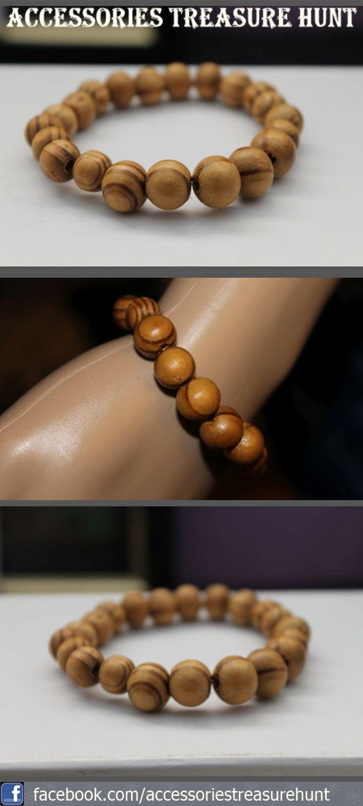 Attractive striped tan beaded bracelets. www.accessoriestreasurehunt.com