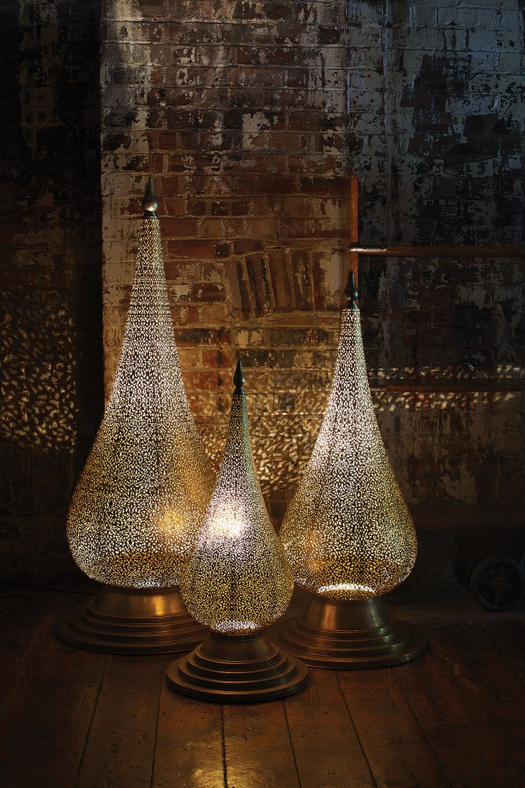 Moroccan decor moroccan lanterns and lamps part 9 - Project Some Exotic Light Into Your Space With The Flame Floor Lamps From Moroccan Bazaar Each Lamp Is Handmade To Order With Each Floral Cut Out Shade