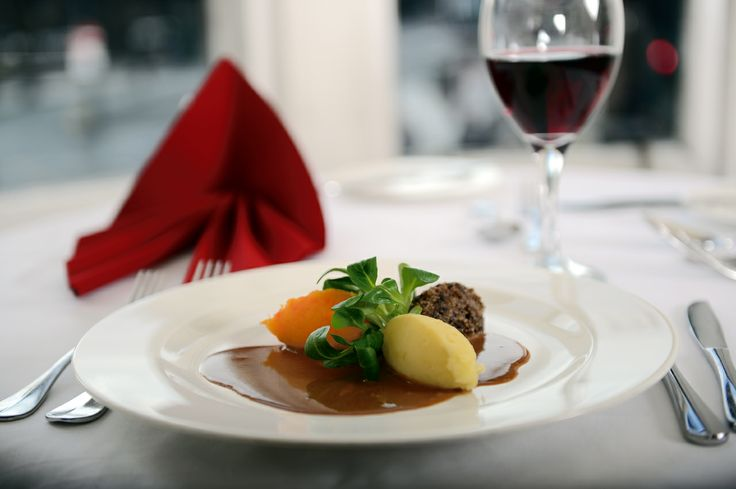 #Haggis with a #whisky jus at Cranstons #restaurant in The Old Waverley #hotel #Edinburgh. Come and try our #delicious #food