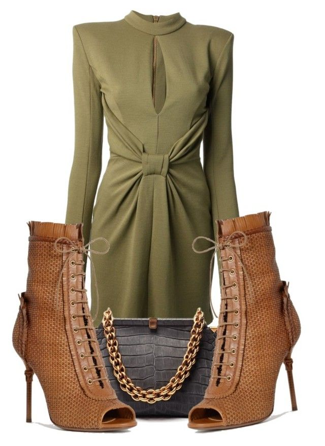 """Untitled #698"" by jetadorejas ❤ liked on Polyvore featuring Balmain, Bottega Veneta and Sergio Rossi"