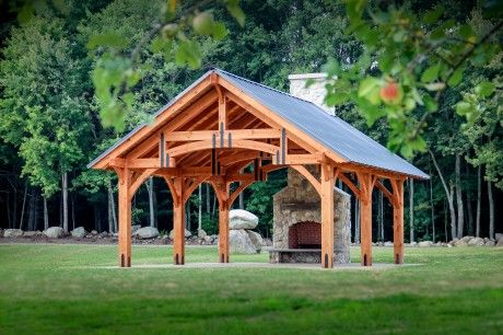 20' x 24' Outdoor Pavilion (Alpine Timber Frame)