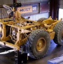 Time lapse video CAT 77D Rebuild 1785  man hours to rebuild Cat 777D truck