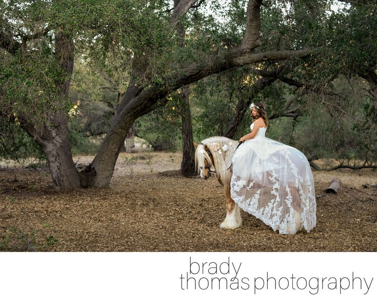 Brady Thomas Photography - Horse Bride Photography Agoura Hills: