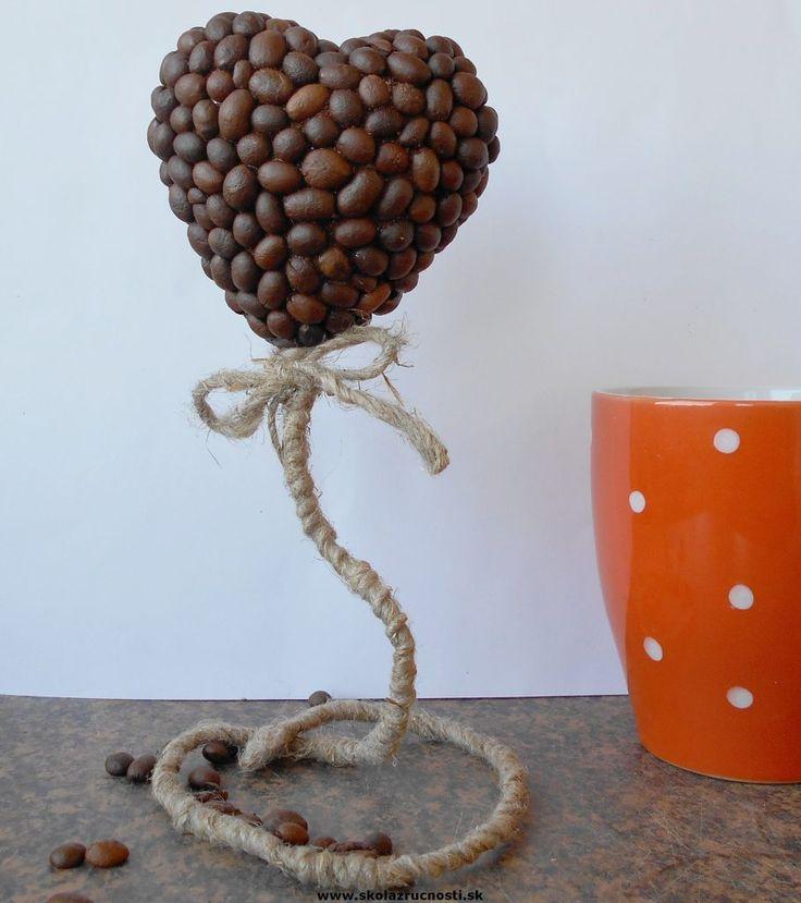 polystyrén srdce káva styro heart coffee tutorial Mother´s Day, kitchen decoration
