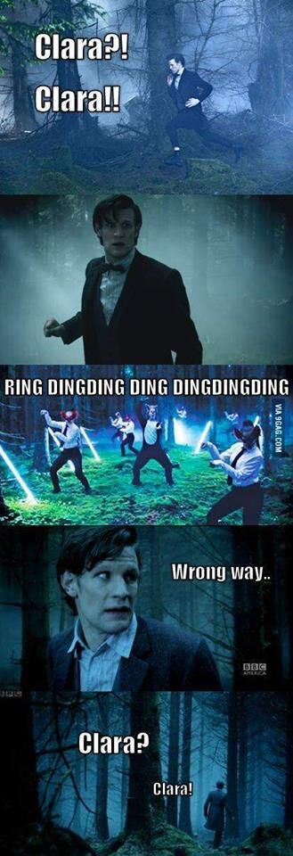 Literally the best thing I have seen with Matt Smith as the Doctor. Except in reality he would probably join in dancing and making noises.