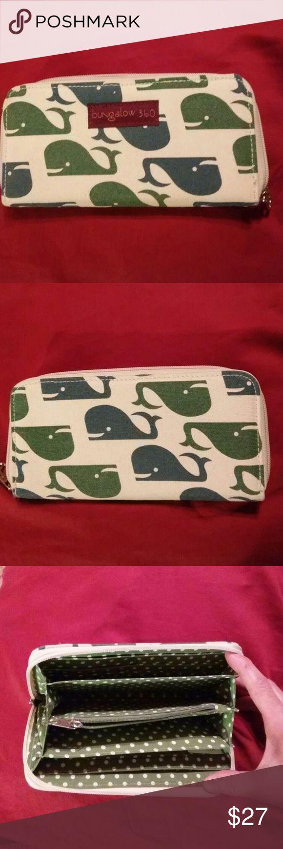 Whale Bungalow 360 Wallet Bungalow 360 Multicolor Whale Print Jacquard Zip Around Organizer, NWT never used, excellent condition. bungalow 360 Bags Wallets