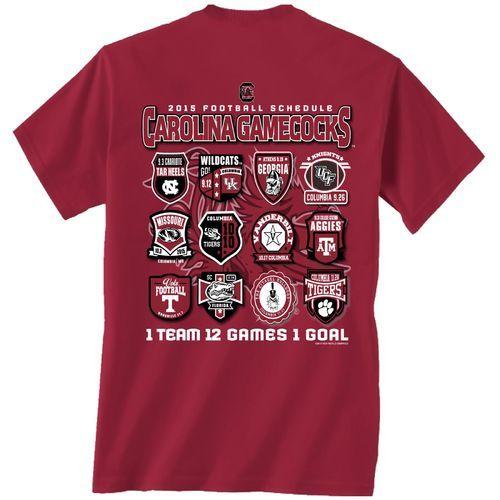 New World Graphics Men's University of South Carolina Schedule T-shirt