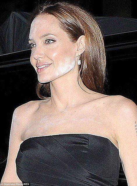 Other celebrities have been caught out by the make-up faux pas, including Angelina Jolie