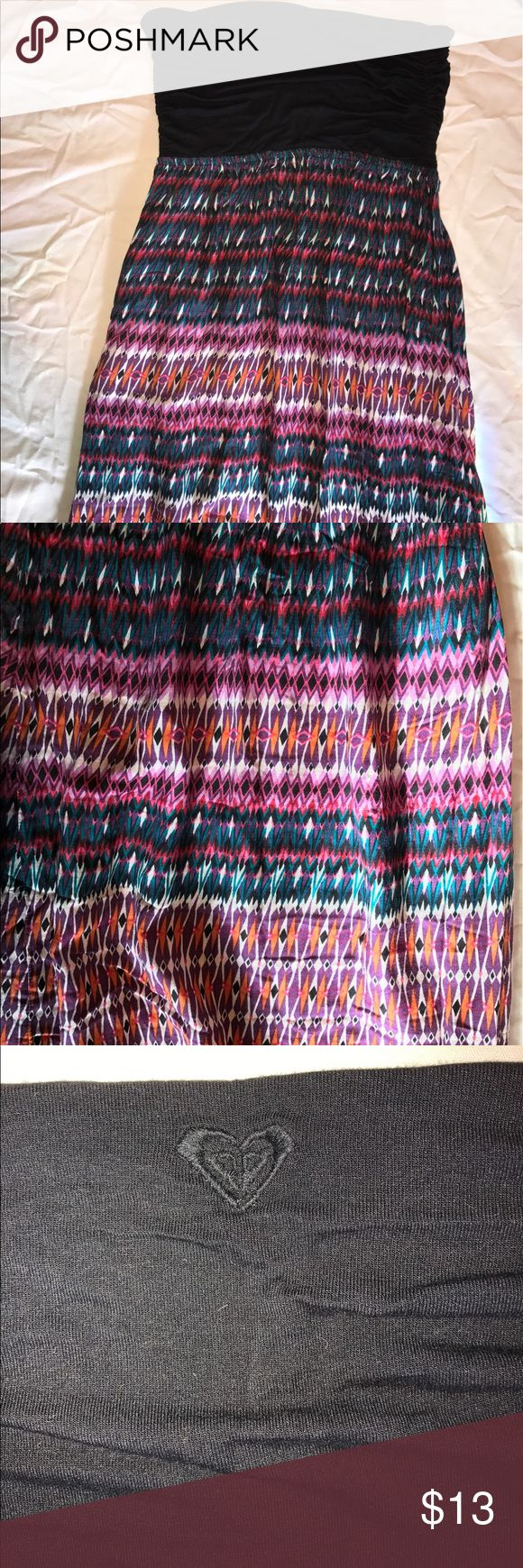 ROXY Strapless Maxi Dress ROXY strapless maxi dress. Never been worn. Looks super cute as a swim suit coverup or just a casual dress. Perfect condition. No flaws! Open to Offers!!! Roxy Dresses Maxi
