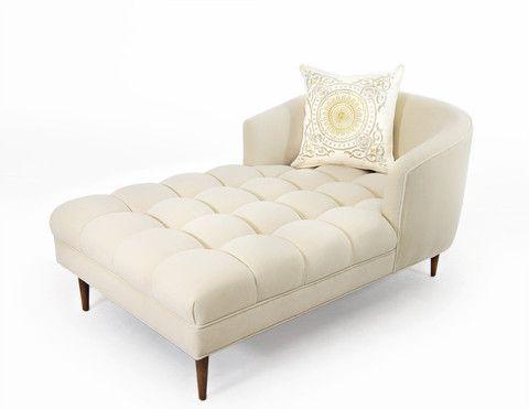 St. Bart's Chaise Lounge in Cream Velvet | ModShop