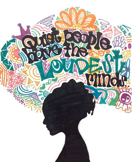 'Quiet People Have The Loudest Minds.' - Stephen Hawking. Illustration by alexavec. #Illustration #Quotation