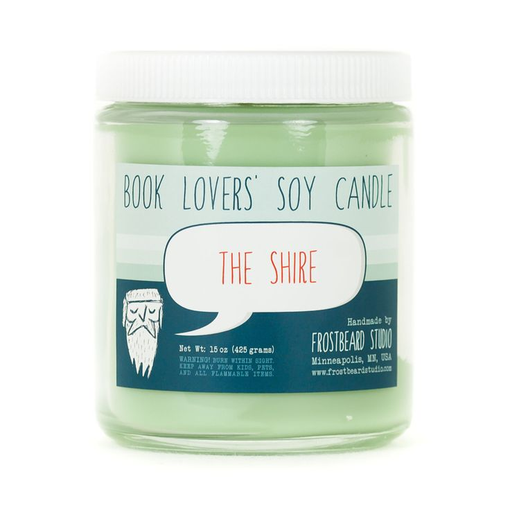The Shire - Soy Candle - Book Lovers' Scented Soy Candle - 8oz jar by Frostbeard on Etsy https://www.etsy.com/listing/120801127/the-shire-soy-candle-book-lovers-scented