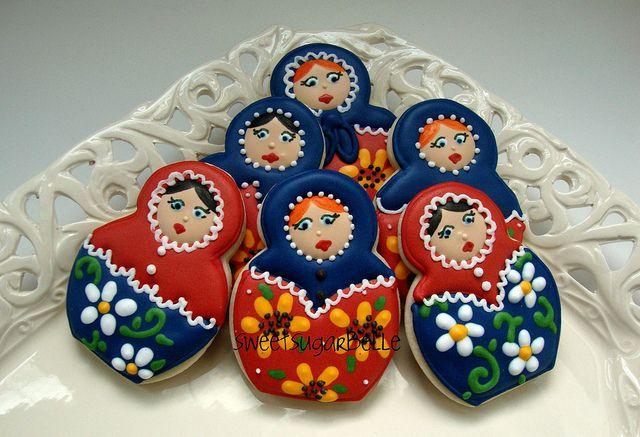 Matryoshka Doll Cookies
