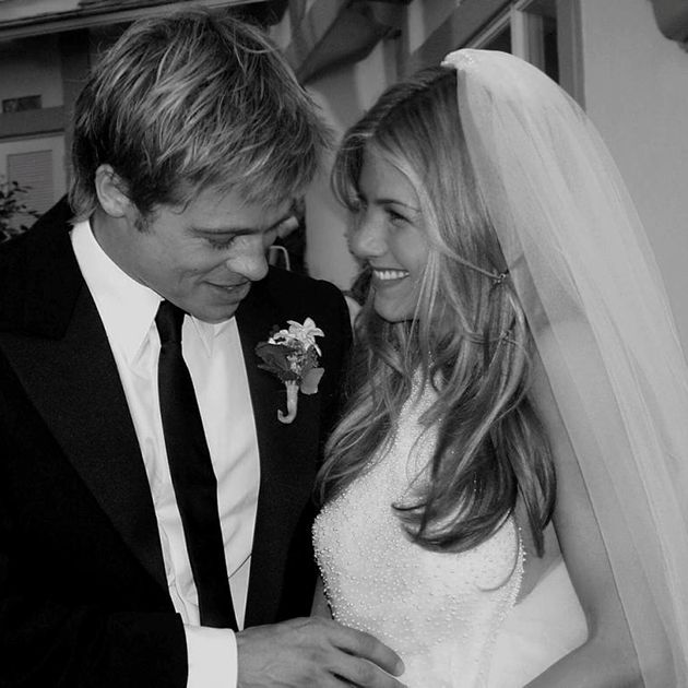 I cry. Brad Pitt and Jennifer Aniston's wedding.