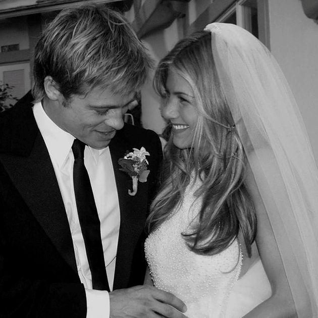 I cry. Brad Pitt and Jennifer Aniston's wedding.