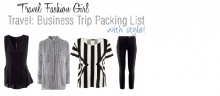 Minimalista Travel Packing - How to Mix and Match 4 Pieces of Clothes - Travel Fashion Girl