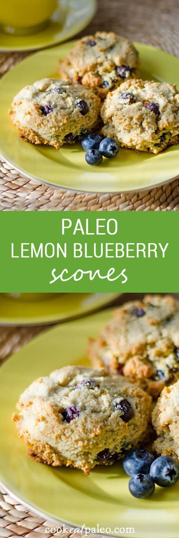 paleo lemon blueberry scones are gluten-free, grain-free, dairy-free ...