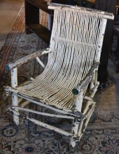 Interiors - Provenance Auction House: A Cape Vernacular Painted Stick Chair.