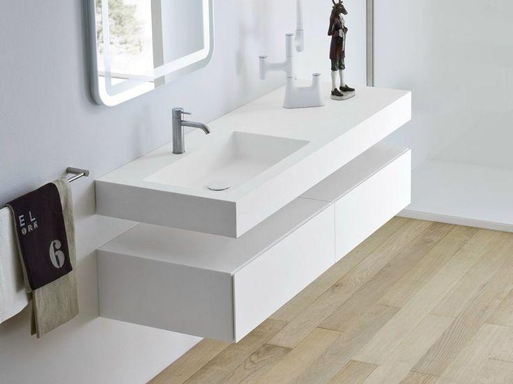 UNICO Lavabo avec plan intégré by Rexa Design design Imago Design