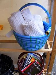 This is a basket made from garden hose, but there are other fun things to make with a garden hose on the website!  Cool!