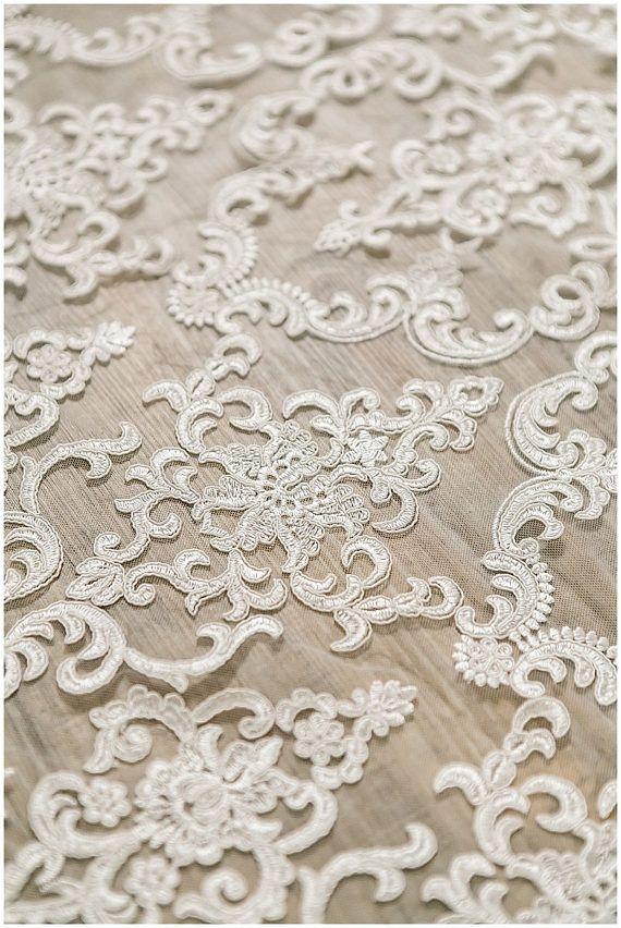 Corded Ornament Lace Fabric bridal lace fabric Ornament
