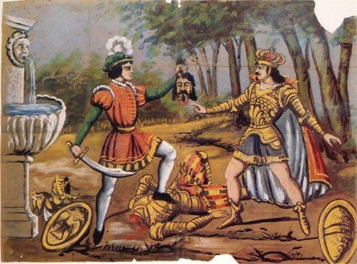 166  Morte di Almonte d´Asia per mano di Orlando presente Carlo Magno (I Paladini di Francia)