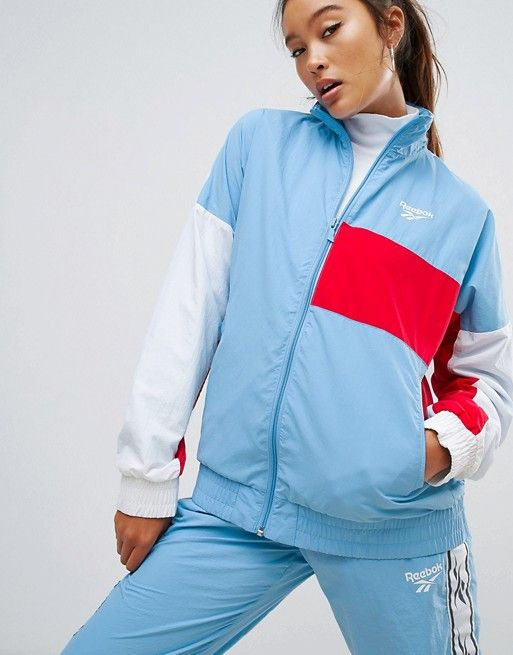 Reebok Classics Lost & Found Woven Track Jacket In Blue