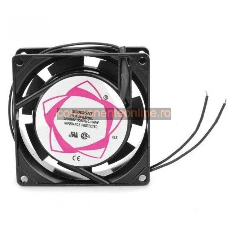 Ventilator 80x80x25mm, 220V AC - 118310