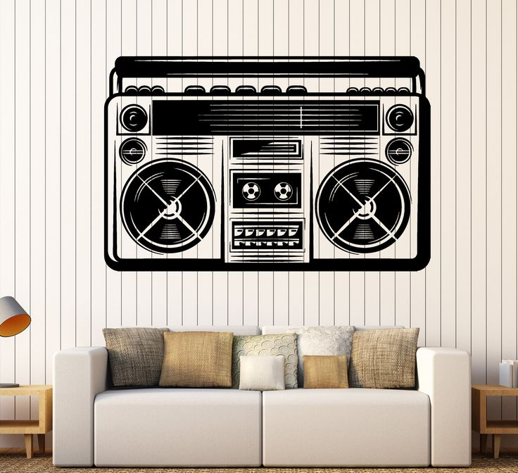 Large Wall Sticker Vinyl Decal 90 Retro Style Cassette Recorder Home Decor z4832