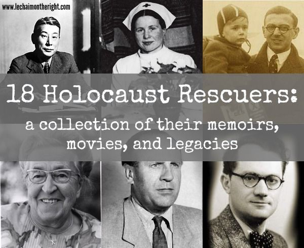 18 Righteous Holocaust Rescuers, with links to movies and memoirs about them. A great resource for unit studies! || Le Chaim (on the right)